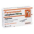 PARACETAMOL ratiopharm 250 mg Kleinkdr.-Suppos.