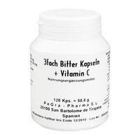 3-FACH Bitter Kapseln+Vitamin C Kapseln