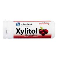MIRADENT Xylitol Chewing Gum Cranberry