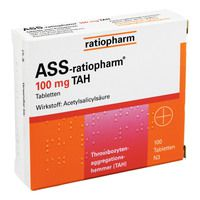 ASS ratiopharm 100 mg TAH Tabletten