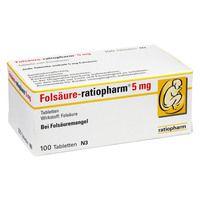 FOLSÄURE RATIOPHARM 5 mg Tabletten
