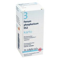 BIOCHEMIE DHU 3 Ferrum phosphor.D 12 Tabl.Karto