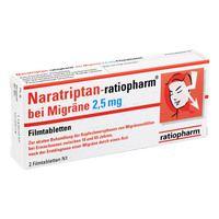 NARATRIPTAN ratiopharm bei Migräne Filmtabletten