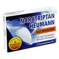 NARATRIPTAN Heumann bei Migräne 2,5 mg Filmtabl.