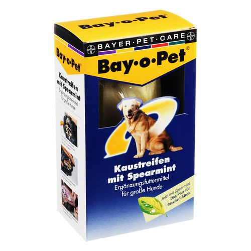 BAY O PET Zahnpfl.Kaustreif.Spearmint f.gr.Hunde