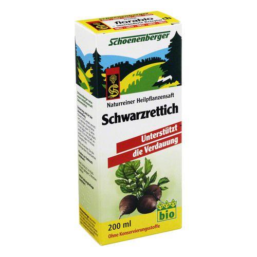 SCHWARZRETTICH Saft Schoenenberger Heilpf.Säfte