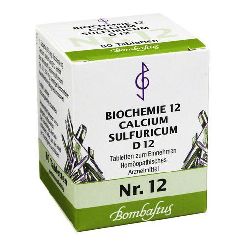biochemie 12 calcium sulfuricum d 12 tabletten 80 st ck naturheilkunde viktoria apotheke. Black Bedroom Furniture Sets. Home Design Ideas