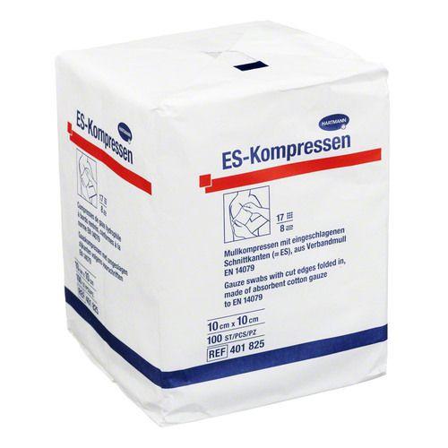 ES-KOMPRESSEN unsteril 10x10 cm 8fach