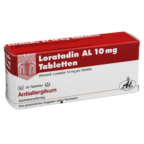 loratadin al 10 mg tabletten 50 st ck apothekensortiment. Black Bedroom Furniture Sets. Home Design Ideas