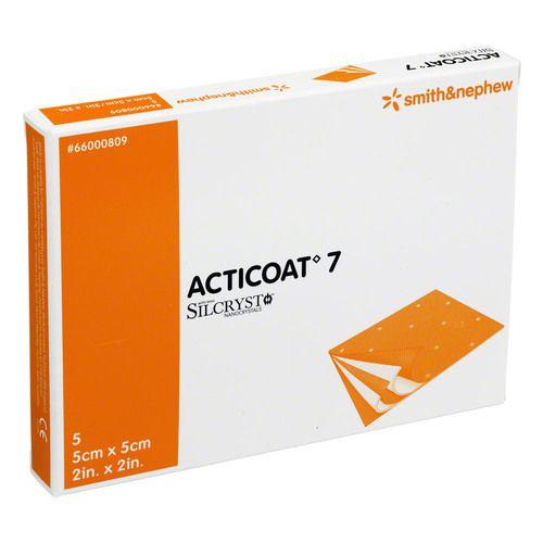 ACTICOAT 7 5x5 cm antimikrob.Wundaufl.7-Tage