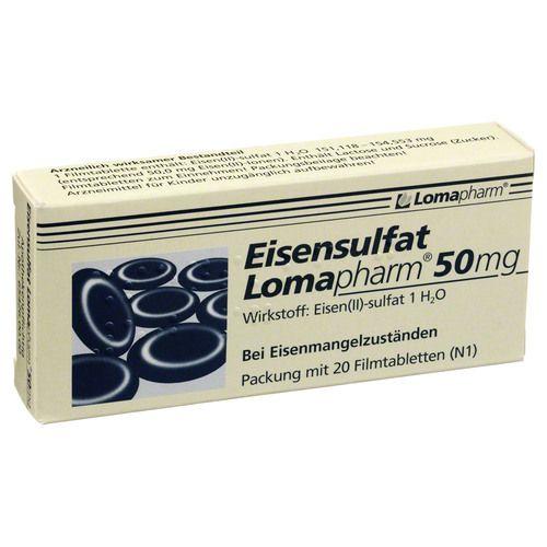 EISENSULFAT Lomapharm 50 mg Filmtabletten