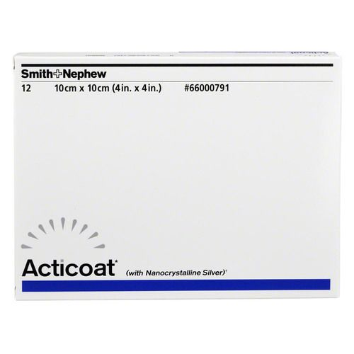 ACTICOAT 10x10 cm antimikrobielle Wundauflage
