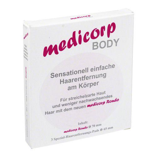 MEDICORP Body 3er Set Haarentfernung Pads m.Halter 1 St