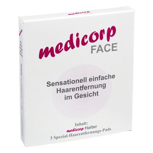 MEDICORP Face 3er Set Haarentfernung Pads m.Halter 1 St