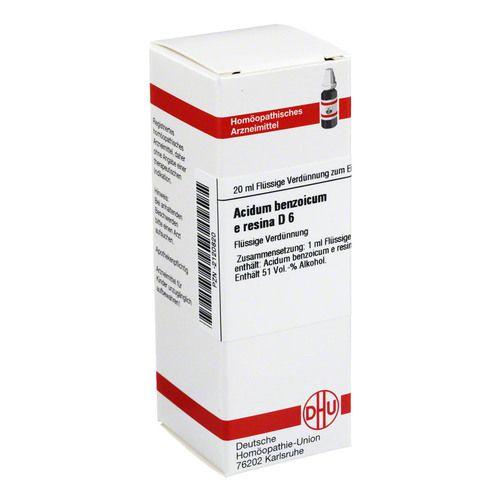 ACIDUM BENZOICUM E Resina D 6 Dilution