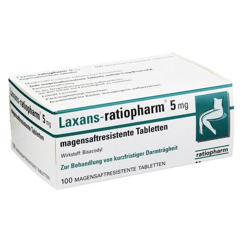 LAXANS-ratiopharm 5 mg magensaftres.Tabletten