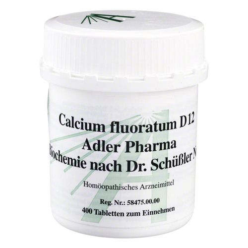 biochemie adler 1 calcium fluoratum d 12 tabletten 400st abc arznei. Black Bedroom Furniture Sets. Home Design Ideas
