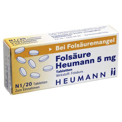 FOLSÄURE HEUMANN 5 mg Tabletten