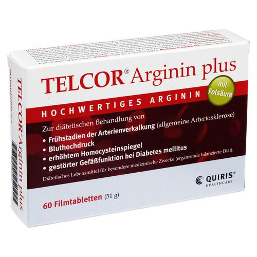 telcor arginin plus filmtabletten 60st ck. Black Bedroom Furniture Sets. Home Design Ideas