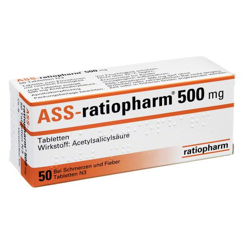ass ratiopharm 500 mg tabletten g nstig kaufen bio apo versandapotheke. Black Bedroom Furniture Sets. Home Design Ideas