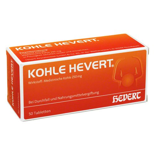 kohle hevert tabletten 50 st arzneimittel omp. Black Bedroom Furniture Sets. Home Design Ideas