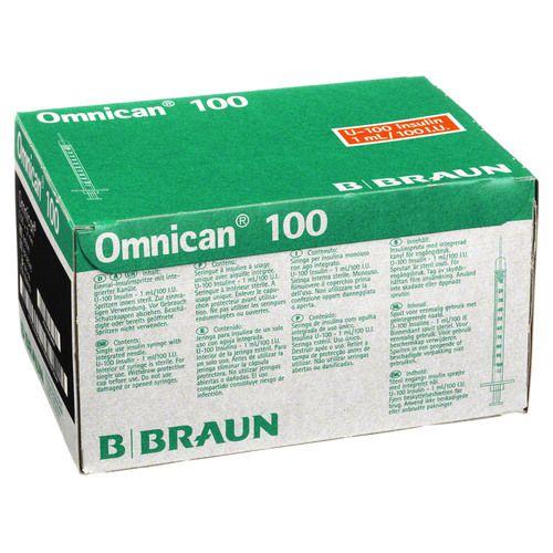 OMNICAN Insulinspr.1 ml U100 m.Kan.0,30x12 mm