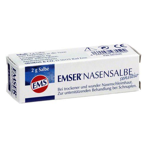 Siemens & Co GmbH & Co. KG EMSER Nasensalbe Sensitiv 2 g 530559