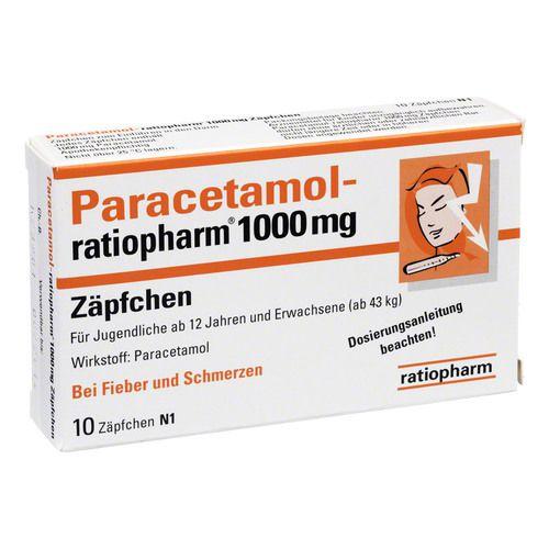 paracetamol ratiopharm mg z pfchen 10 st fieber erk ltung abwehr. Black Bedroom Furniture Sets. Home Design Ideas