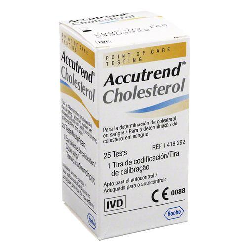 ACCUTREND Cholesterol Teststreifen