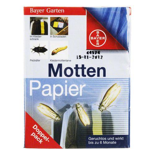 BAYER Garten Mottenpapier Blattanex 2 St