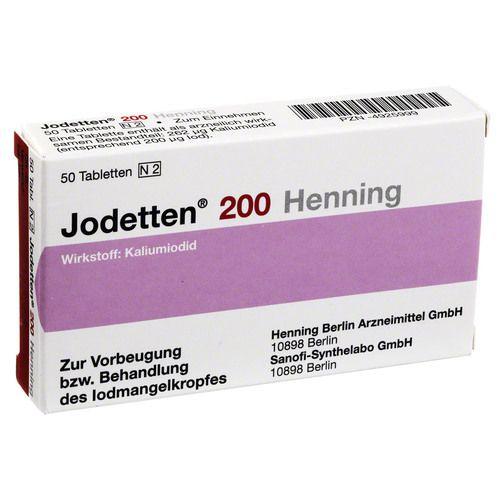 JODETTEN 200 Henning Tabletten - Bodfeld Apotheke
