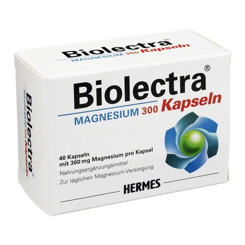 Hermes Arzneimittel GmbH BIOLECTRA Magnesium 300 Kapseln 40 St 16802