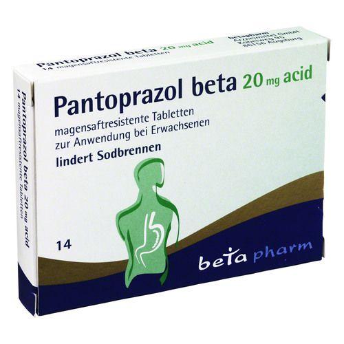 pantoprazol beta 20 mg acid magensaftres tabletten 14st. Black Bedroom Furniture Sets. Home Design Ideas
