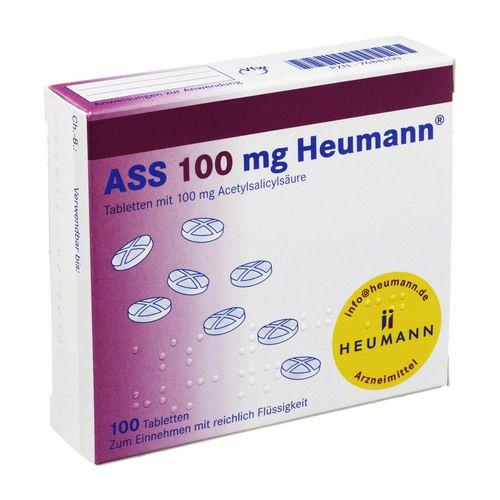 ass 100 mg heumann tabletten 100 st blutverd nnung. Black Bedroom Furniture Sets. Home Design Ideas