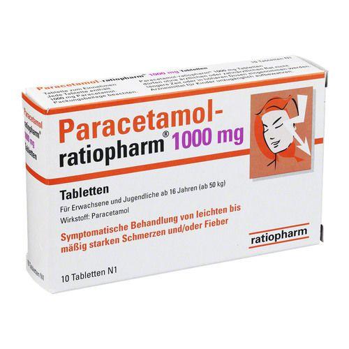 paracetamol ratiopharm mg tabletten 10 st fieber erk ltung abwehr. Black Bedroom Furniture Sets. Home Design Ideas